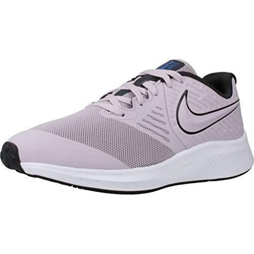 Nike Star Runner 2 (GS), Zapatilla de Correr para Niñas, Ice Lilac/Off Noir-Soar-White, 40 EU