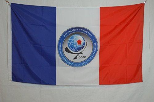 Directorate-General External Security DGSE France Patriot Paris National Military Secret Service intelligence Logo 3x5 feet Flag Banner Vivid Color Double Stitched Brass Grommets