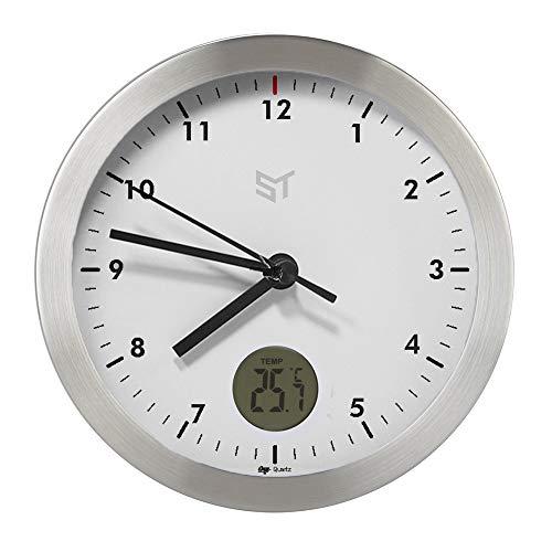 PROMO SHOP Gran Reloj de Pared Metalico Personalizado con Strongman · Mecanismo Silencioso Sweep · Reloj Cocina Pared con Termometro · Incluye Caja de Regalo Individual