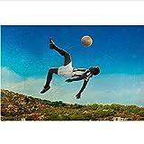 RGHJH Pele Soccer Legend Biographie Sportive Affiches Et Impressions Art Mural Peintures sur Toile pour Salon Décor Affiches Et Impressions