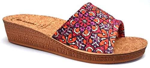 inblu Ciabatte Pantofole Aperte Donna MOD. DI-71 Fuxia Linea Benessere (Numeric_38)