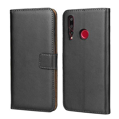 Copmob Huawei Nova 4 Hülle,Klassisch Flip Brieftasche Ledertasche Handyhülle,[Multi-Kartenslot][Standfunktion][Magnetverschluss],Schutzhülle Handyhülle für Huawei Nova 4 - Schwarz