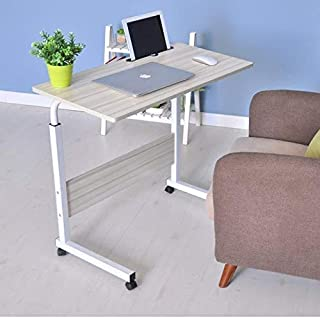 S- PLUS Adjustable Mobile Bed Table Portable Laptop Computer Stand Desks 60x40
