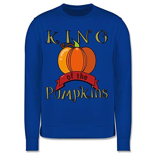 Halloween Kind - King of The Pumpkins - 152 (12/13 Jahre) - Royalblau - Halloween - JH030K - Kinder Pullover