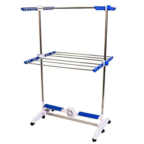 High Street TV NuBreeze Wäscheständer mit Breeze Bar Technologie, trocknet 50% schneller, 2 verstellbare Ebenen & 4 Regalböden, hält bis zu 20 kg Wäsche, Blau