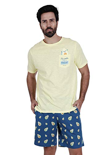 MR WONDERFUL Pijama Manga Corta Aguacates para Hombre
