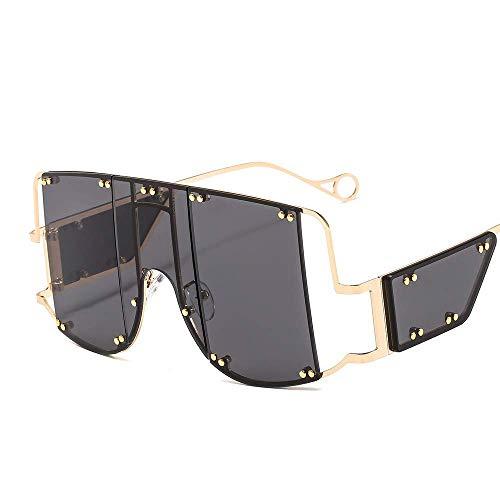 Empty Übergroße Sonnenbrille-Frauen-Sonnenbrille-Männer Vintage-Sonnenbrillen Retro-Platz Männer Brillen Rihanna Sonnenbrillen GAGEAA