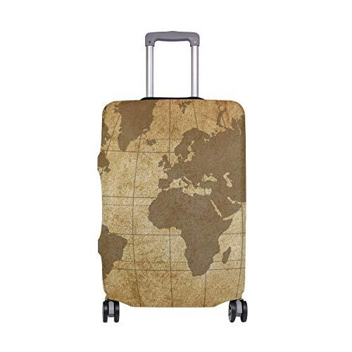 Funda Protectora para Maleta de Viaje con diseño de mapamundi Vintage, para Adultos, Mujeres, Hombres, Adolescentes y Adolescentes de 18 a 20 Pulgadas