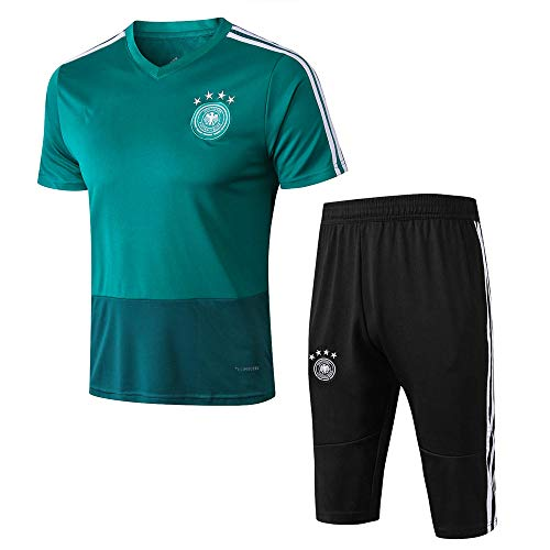 Club Trainingspak met korte mouwen Voetbal Team Uniform Ademend Jersey pak