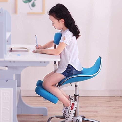 QSHG Kniend Stühle Ergonomischer Bürostuhl Computer Stuhl, hohe elastischer Schwamm, Geeignet for Kinder (1.1-1.4m) Korrekte Sitzhaltung Kleiner Hocker (Color : Green, Size : Without Pedals)