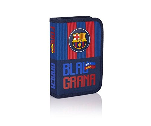 FC Barcelona Barca Fan 5 Estuches, 20 cm, 0.92 liters, Azul (Navy Blue)