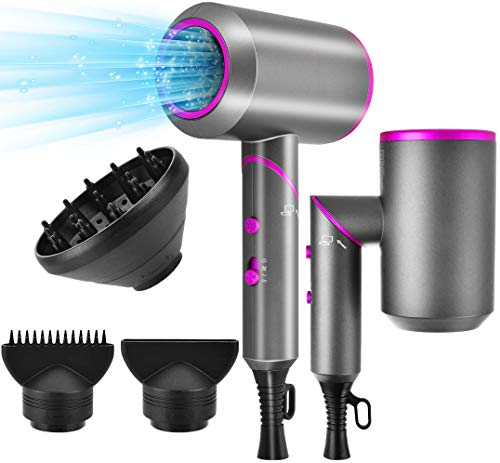 Hair Dryer, Bellkey 2000W Ionic Blow Dryer Professional Hairdryer with...