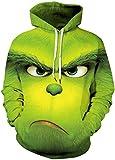 Photo de Chaos World Homme Sweats à Capuche Casual 3D Pull à Manches Longues Sweat-Shirts Hiver Hoodie avec Pochette (Green Monster, M) par