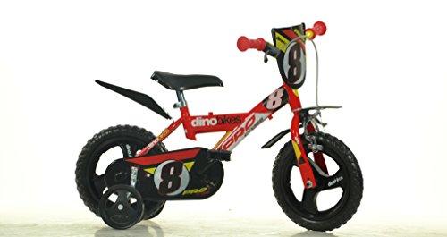 Jungen Kinderfahrrad rot 123GLN Jungenfahrrad – 12 Zoll | TÜV geprüft | Original | Kinderrad mit Stützrädern - Das Fahrrad als Geschenk für Jungen