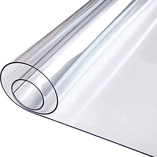 GUOTIAN Cojín de Silla de Oficina de PVC Transparente Alfombrilla de Protección de Suelo Multifunción Impermeable Antideslizante Personalizable Tamaño (Color: Clear-1.0mm,),1.0mm,80x80cm