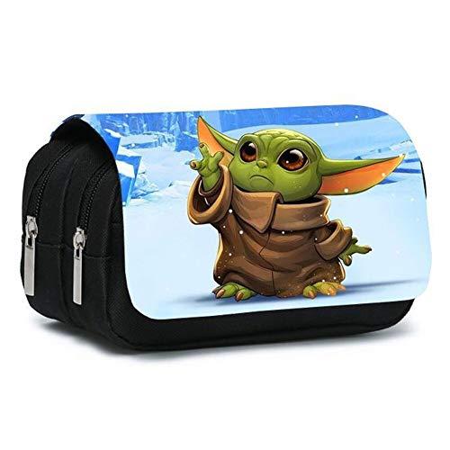 Star Wars Baby Yoda,Cutest in The Galaxy Pencil Case,Unisex Astuccio per Matite a Colori di Grande Capacità,Borsa per Matite di Borsa,20 * 10 * 7.5cm