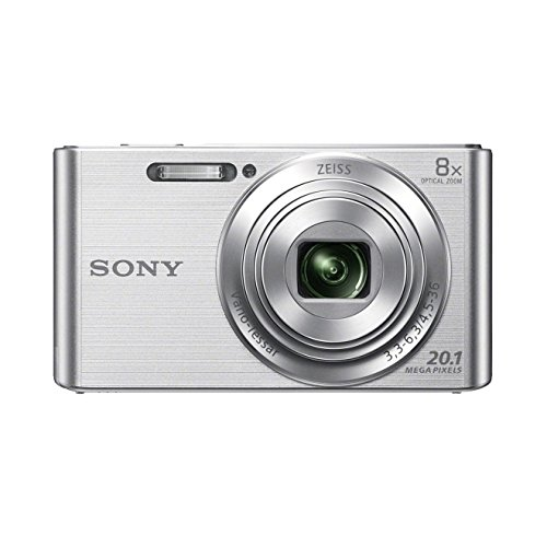 Sony Dsc-W830 Fotocamera Digitale Compatta con Sensore Super Had Ccd da 20.1 Mp, Zoom Ottico 8X, Video Hd, Steadyshot Ottico, Argento