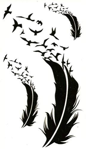 GGSELL KING HORSE Goose Nouveau design et autocollants plume tatouage temporaire