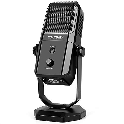 SOUIDMY USB Microphone for Desktop Recording