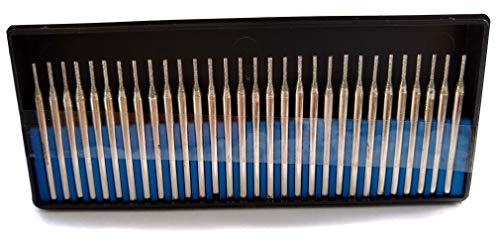 Drilax 30 Pcs Premium 1mm Diamond Drill Bit Burr Set 1/24