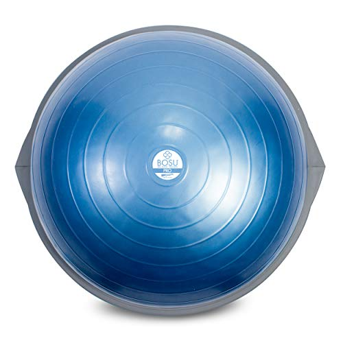 Bosu Pro Balance Trainer, Stability Ball/Balance Board with Manual and Guided Workout Downloads (26 Inches), Blue