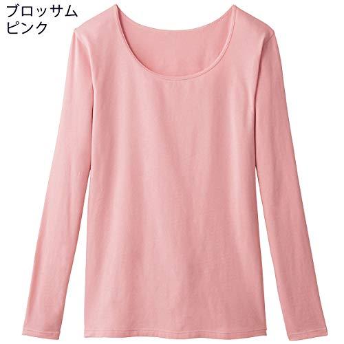 [セシール]インナーシャツスマートヒート背中二重あったか10分袖発熱するコットンぬく綿UE-1475レディースブロッサムピンク日本LL(日本サイズ2L相当)