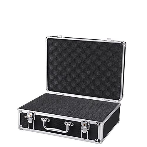 Caja de herramientas Equipo de seguridad de aluminio portátil Caja de herramientas Caja de instrumentos Caja de almacenamiento Maleta Funda resistente al impacto con herramientas de esponja Caja de me