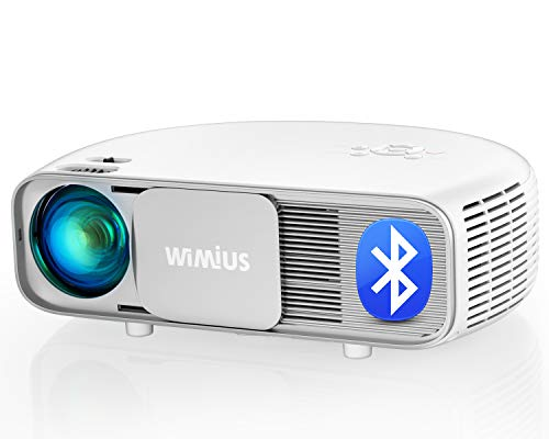 Bluetooth Projector, New WiMiUS S4 Native 1920 x 1080P Projector w/ 10000:1 High Contrast | HDR Input Support 4K, Zoom & Large 300' Screen | Compatible w/ Laptop, iPhone, Fire TV Stick, DVD, PPT