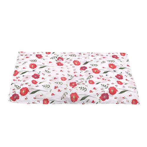 LPOQW Sombrilla para cochecito de bebé, protección UV, para capazos de bebé, 113 x 90 cm, flores rojas