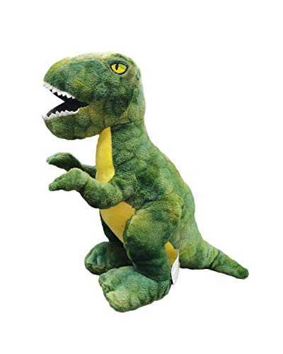 Barrado - Peluche Dinosauro Tyrannosaurus Rex 30 Centimetri - qualità Super Soft (Thor Verde 30cm)