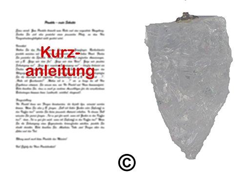 Pendel/RUTE/RADIÄSTHESIE: Ruwe edelstenen slinger van bergkristal met beknopte handleiding