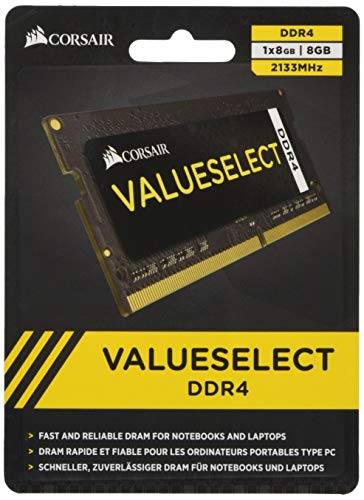 Corsair CMSO8GX4M1A2133C15 Value Select 8GB (1x8GB) DDR4 2133Mhz CL15, Noir