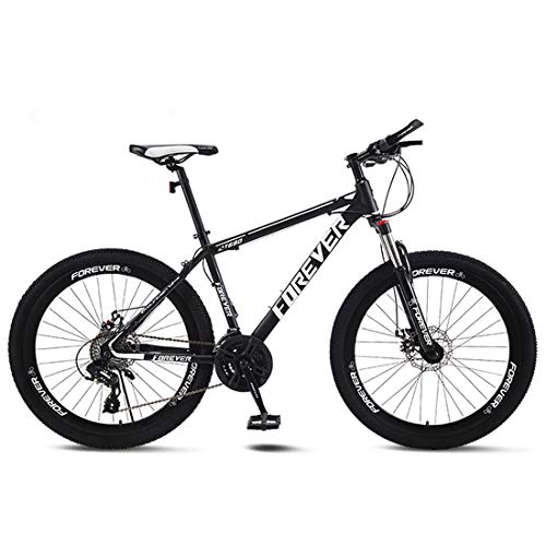 CPY-EX Erwachsene Mountain Bike 26 Zoll Doppelscheibenbremse Stadt Fahrrad Einrad-Off-Road Variable Speed MTB Mountainbike (21/24/27/30 Speed),C,24