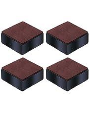 Honeyhouse Meubelverhoging van koolstofstaal, 4 stuks, zelfklevende meubelverhoging voegt 32/52/102 mm hoogte toe aan bedden, banken kasten - zwart vierkant