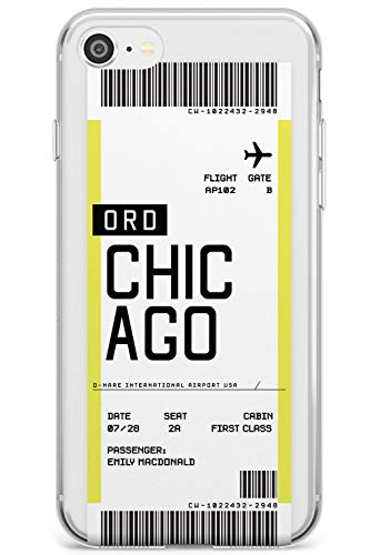 Imbarco Personalizzato Passo del Biglietto: Chicago Slim Cover per iPhone 5 TPU Protettivo Phone Leggero con Personalizzato Viaggiatore Wanderlust