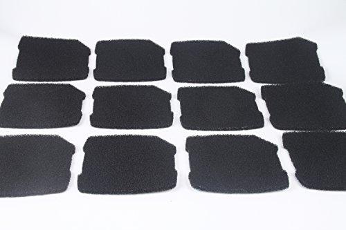 LTWHOME Compatible Activé Carboné Mousseux Filtration Tapis Convient pour Eheim Professionnel Pro 3 250, 250T, 350, 350T, 600/ Ultra G Pro 3 Filtre 2071,2073,2075 Et Eheim Pro 3e 350/2074 (Paquet DE 12)