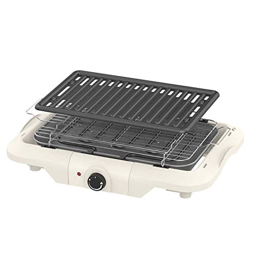 LVYE1 MRMF Elektro BBQ Grill, Elektrischer Tischgrill, Barbecue Elektrogrill, Elektrischer Tischgrill Mit Kontaktgrill, Grillplatte, 1850 Watt