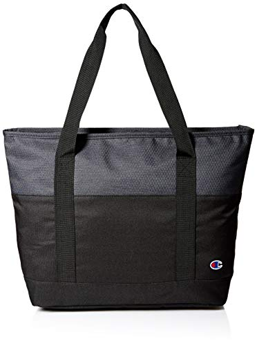Champion unisex adult Signal Gym Tote Bags, Black, One Size US