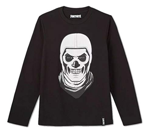 FORTNITE Skulltrooper - Camiseta de manga corta para niño, diseño de Skull - negro - Large