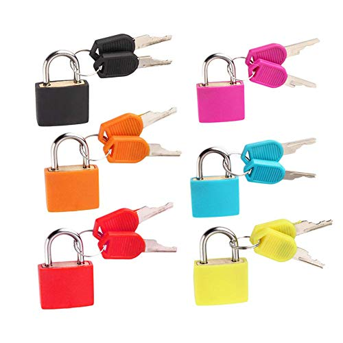 Schneespitze 6 Pcs Small Suitcase Locks,Shackle Security Set Luggage Locks...