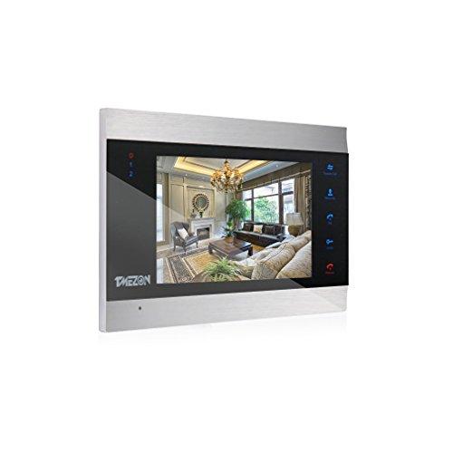 TMEZON Videoportero con sistema de intercomunicación, monitor 1200TVL de 7 pulgadas, solo funciona con timbre de puerta de 1200TVL