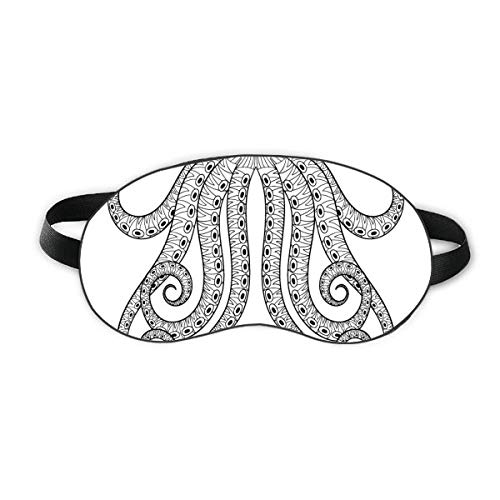 Malen Sie Octopus Eight Black Sleep Augenmaske Night Blindfold Shade Cover