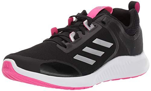 adidas Women's Edgebounce 1.5 Running Shoe, Black/Silver Metallic/Shock Pink, 8 M US