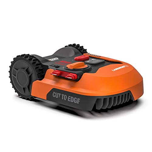 Worx Tagliaerba Robot da Giardino Landroid Wr143E, Rasaerba Elettrico a Batteria 20 V, Tosaerba 3 Lame Mobili, Comando Wi-Fi