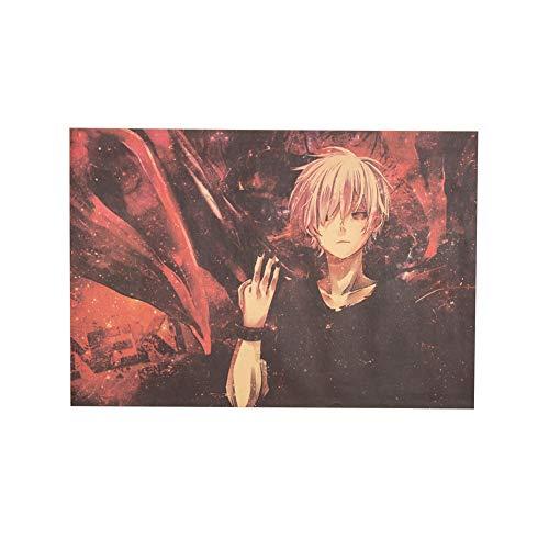 Chef Vinny Tokyo Ghoul Poster Kaneki Ken Poster Japan Manga Poster Japan Anime Poster Comic Poster Cartoon Poster 50.5X35cm(Multi)