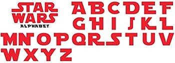 Alphabet Star Wars Vinyl Sticker - Each Letter is 2   Tall Plus Big Sticker - 30 Items/Stickers