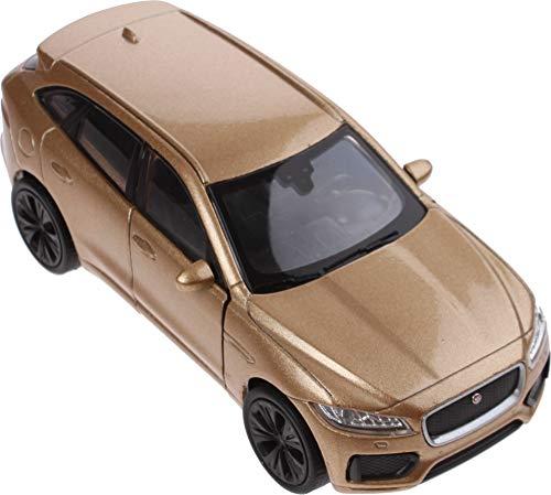 Welly modelo a escala Jaguar F-Pace 1:34 marrón 11 cm