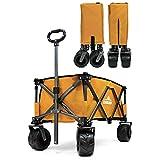 DABADA(ダバダ) キャリーカート 耐荷重150kg 容量95L アウトドアワゴン 折りたたみ 軽量 大型タイヤ 4輪 (マスタード)