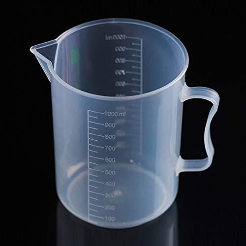 1000ml Thin Lichtschnitt PP Plastikflasche Digital-Messbecher Flaschenwaage messen Glass Lab Laborwerkzeuge (Transparent) QiuGe (Color : Transparent)