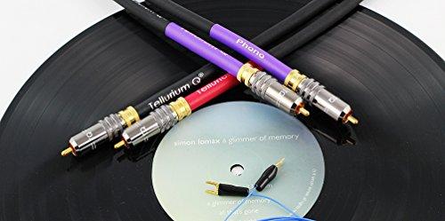 Tellurium Q Black Phono RCA-RCA - Placa giratoria (1,0 m, con cable...